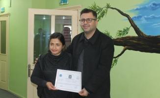 Silopi'de engelli kursiyerlere sertifika