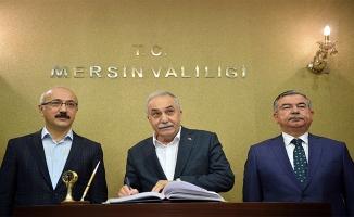 Bakanlar Fakıbaba, Yılmaz ve Elvan Mersin'de