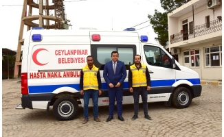 Ceylanpınar'da Ambulans hizmetinden vatandaş memnun