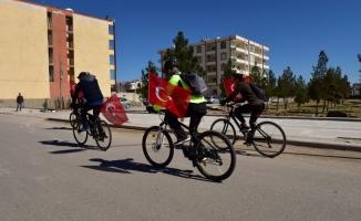 Ceylanpınar'dan Afrin'e bayraklı ve pedallı destek