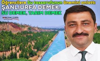 DSİ, Urfalı öğrencilere suyun önemini anlattı