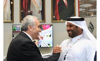 Fakıbaba, Katar Sanayi ve Ticaret Odası Başkanı ile görüştü