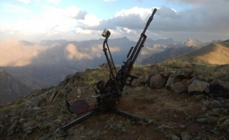 Hakkari'de PKK'ya ait uçaksavar ele geçirildi