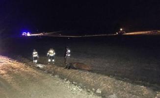 Nevşehir'de F-16 eğitim uçağı düştü
