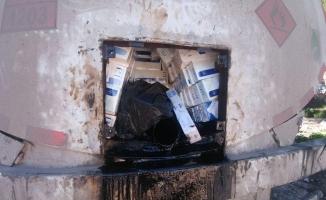 Tankerde onbinlerce paket kaçak sigara yakalandı