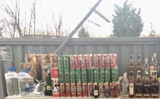 Tekirdağ'da kaçak ve sahte içki operasyonu