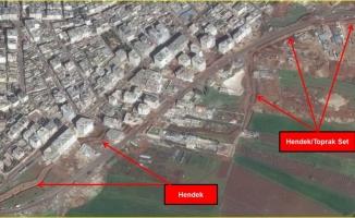 Teröristler hendekleri Afrin halkına kazdırdı