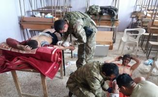 TSK'dan Afrin'e insani ve ilk yardım
