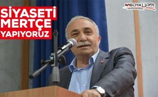 """Bakan Fakıbaba'dan """"mertçe siyaset"""" vurgusu"""