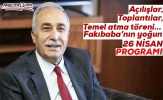 Bakan Fakıbaba'nın 26 Nisan programı
