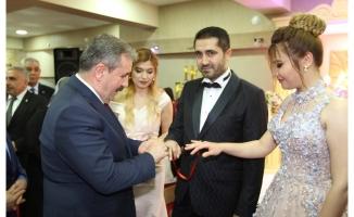 BBP Genel Başkanı Destici nişan törenine katıldı