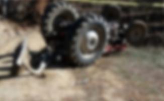 Suruç'ta devrilen traktörün sürücüsü öldü