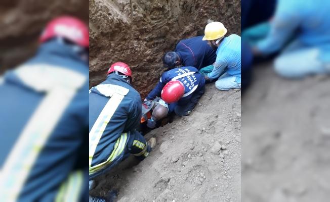 Denizli'de inşaatta göçük: 1 yaralı