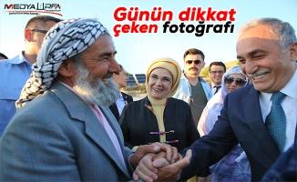 Erdoğan'ın ziyaretinde dikkat çeken fotoğraf!