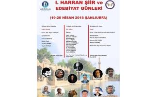 Şanlıurfa'da Şiir ve Edebiyat günleri başlıyor