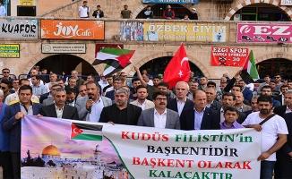 Şanlıurfa'dan ABD'ye Kudüs protestosu