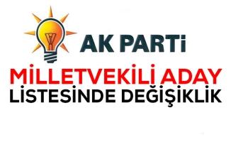 AK Parti listesinde aday değişikliği