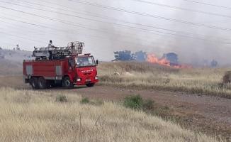 Atatürk Barajı'nda orman yangını