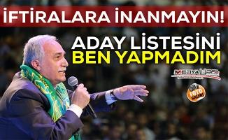 Bakan Fakıbaba liste iddialarına yanıt verdi