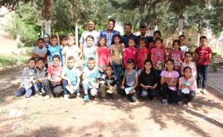 Ceylanpınar'da Belediye'den köy okuluna yardım eli