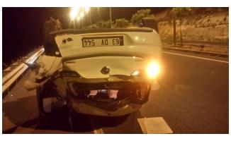 Eyyübiye'de otomobil takla attı: 4 yaralı