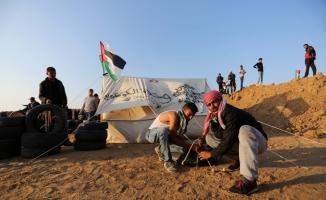 """Gazze'de """"milyonluk dönüş yürüyüşü"""" hazırlıkları"""
