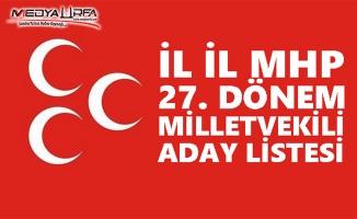 MHP 27. Dönem Milletvekili aday listesi