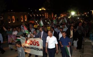 Şanlıurfa'da İsrail protestosu