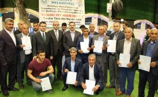 Urfa'da bin 200 inşaat işçisine eğitim sertifikası verildi