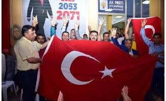 Ceylanpınar'da gençlerden AK Parti'ye büyük destek