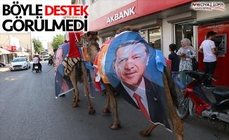 Deve yetiştiricilerinden Cumhurbaşkanı Erdoğan'a destek
