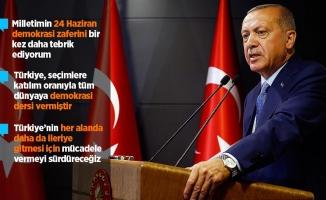Erdoğan: Bundan sonra daha çok çalışma zamanı