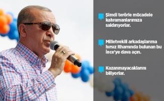 Erdoğan: Arkadaşlarıma hırsız diyen İnce'ye dava açın