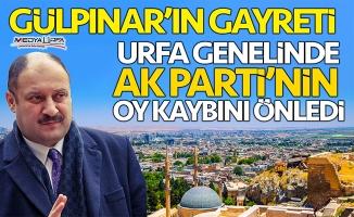 Gülpınar'ın gayreti, AK Parti'nin Urfa'daki oy kaybını önledi!