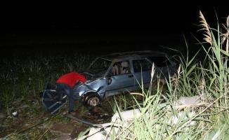 Konya'da otomobil domuza çarptı: 5 yaralı