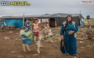 Şanlıurfa'da göçerlerin zorlu ramazan mesaisi
