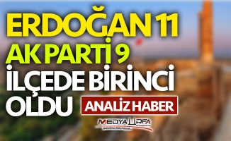 Urfa'da Erdoğan 11 AK Parti 9 ilçede birinci oldu