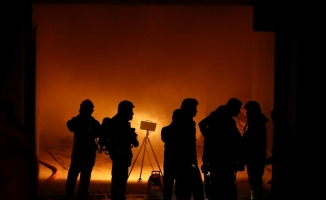 Bakırköy'de fuar merkezinde yangın