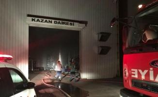 Burdur'da yem fabrikasında yangın