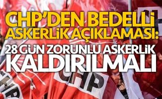 CHP'den bedelli askerlik teklifi!