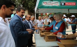Eyyübiye Belediyesi vatandaşlara gül suyu ikram etti