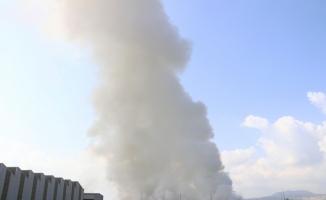 Osmaniye'de geri dönüşüm fabrikasındaki yangın