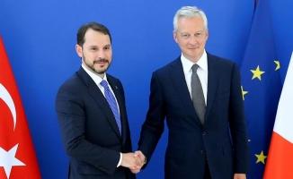 Albayrak Fransa Finans Bakanı Le Maire ile görüştü