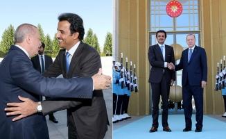 Erdoğan, Katar Emiri Al Sani ile görüştü