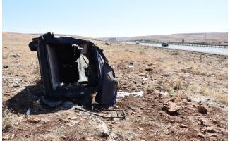 Hilvan'da hafif ticari araç devrildi: 5 yaralı