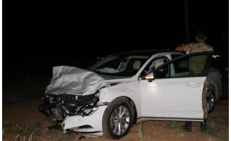 Karaköprü'de iki otomobil çarpıştı: 5 yaralı