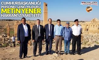 Metin Yener, Harran'ı ziyaret etti