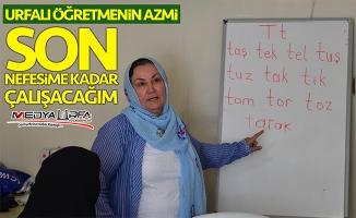 Urfalı öğretmenin eğitim aşkı!