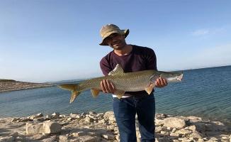 Atatürk Barajı'nda balık tutma yarışması yapıldı