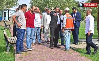 Ceylanpınar Belediyesi Park Bakım Ve Onarım Çalışmalarına Hız Verdi